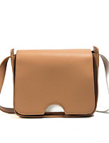Women Bags All Seasons PU Shoulder Bag with for Casual Brown