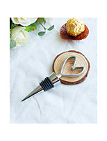 Chrome Heart Bottle Stopper Wedding Favors Beter Gifts® Life Style