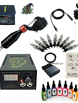 Basekey High Born Tattoo Kit H015-S2 1 Rotary Machine With 7 Inks Power Supply 10 PCS Needles