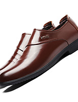 Men's Wedding Shoes Driving Shoes Formal Shoes TPU Fall Winter Wedding Office & Career Dress Low Heel Coffee Black Under 1in