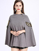 Women's Wrap Capes Knitwear Wedding Animal Print