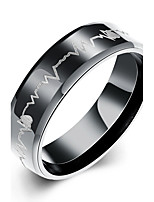 Men's Midi Rings Jewelry Basic Stainless Steel Circle Jewelry For Daily Casual Office & Career