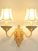 E12/E14 Tiffany simple Traditionnel/Classique Rustique Laiton Fonctionnalité for Style mini Ampoule incluse,Vers le Haut Applique murale