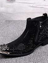 Для мужчин Туфли на шнуровке Удобная обувь Оригинальная обувь Модная обувь Ботильоны Осень Зима Наппа LeatherСвадьба Для вечеринки /