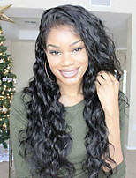 Hot Selling Natural Wavy Lace Front Human Hair Wigs-Glueless 130% Density Brazilian Virgin Lace Wigs with Baby Hair For Black Woman