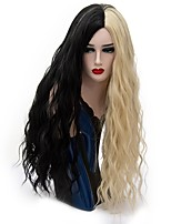 Women Synthetic Wigs Capless Long Loose Wave Black/Gold Natural Wig Party Wig Halloween Wig Carnival Wig Costume Wig