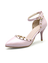 Women's Heels Basic Pump Spring Summer Synthetic Microfiber PU PU Wedding Dress Party & Evening Office & Career Rivet Buckle Stiletto Heel