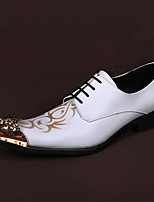 Men's Oxfords Comfort Novelty Nappa Leather Spring Fall Wedding Office & Career Party & Evening Walking Comfort Novelty Rivet Lace-upFlat
