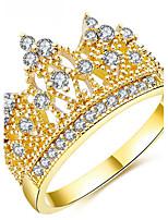 Settings Ring Luxury Women's Euramerican Fashion Crown Birthday Wedding Movie Gift Jewelry