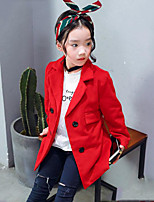 Girls' Solid Suit & Blazer,Polyester Spring Fall Long Sleeve