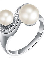 Couple Rings  Band Rings Women's Fashion Luxury Elegant Double Pearl Jewelry For Party Wedding Daily