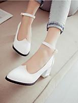 Mujer Zapatos PU Verano Confort Tacones Para Casual Blanco Negro Morado