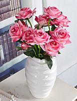 1 Филиал Пластик Розы Pастений Букеты на стол Искусственные Цветы