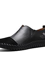 Для мужчин Мокасины и Свитер Удобная обувь Замша Кожа Весна Осень Повседневные Для вечеринки / ужина Комбинация материаловНа плоской