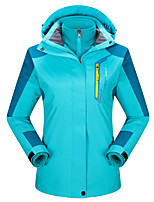 Women's 3-in-1 Jackets Keep Warm Breathable Wearproof 3-in-1 Jackets for Running/Jogging Camping / Hiking Climbing Winter Fall/Autumn M L