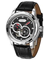 Men's Fashion Watch Mechanical Watch Automatic self-winding Genuine Leather Band Black Brown