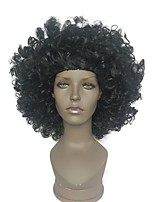 Afro american black afro wigs resistentes al calor kinky curly wig women 8 inch