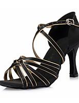 Women's Dance Shoes Latin shoes Leopard satin CL52