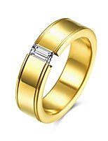 2017 Fashion Luxury Simple Classic Titanium Steel Band Rings Jewelry For Man