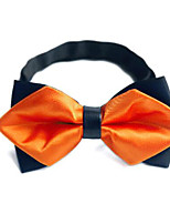 Men's Polyester Bow Tie,Others Solid