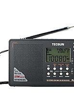 PL-505 Radio portatil Radio FM Altavoz incorporado Despertador Gris