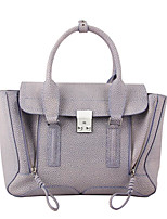 Women Bags All Seasons Cowhide Tote with for Casual Amethyst
