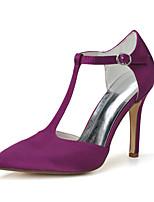 Mujer Zapatos de boda Zapatos formales Primavera Verano Satén Boda Fiesta y Noche Tacón Stiletto Blanco Morado 7'5 - 9'5 cms