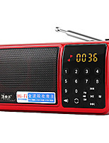 F60 Radio portable Lecteur MP3 Carte TFWorld ReceiverRouge Bleu