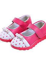 Mädchen Flache Schuhe Komfort PU Frühling Normal Weiß Blau Rosa Flach
