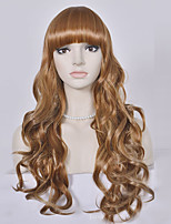 Long Blonde Wavy Wig Synthetic Hair Wig For Black Women High Temperature Fiber Hair Cosplay Wigs