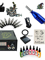 kits de tatouage pour débutants 1 machine de tatouage x alliage pour la doublure et l'ombrage LCD alimentation5 x Aiguilles de tatouage