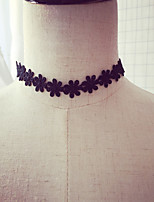 Women's Collar Necklace Flower Plush Fabric Handmade Jewelry For Wedding Party Birthday Graduation Gift Daily