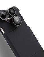 Câmera de telefone celular purecolor iphone7 4,7 polegadas de grande angular 0.65x macro 180 olho de peixe com lente de shell de telefone