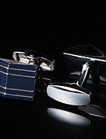 New Men's Jewelry Shirt Cufflinks for Mens Brand Cuff link Boutons Metal Luxury Silver Gemelos Wedding Gifts for Men Guests