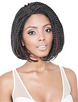 жен. Парики из искусственных волос Лента спереди Короткий Черный / Medium Auburn Черный / Темно-рыжий Черный / Бургундия Средний