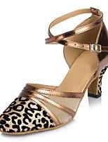 Women's Modern Sparkling Glitter Sandals Indoor Customized Heel Black Silver Bronze Gray Ruby