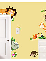 Animales Floral/Botánico Caricatura Pegatinas de pared Calcomanías de Aviones para Pared Calcomanías Decorativas de Pared Material