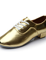 Men's Latin Leatherette Heel Indoor Customized Heel Gold 1