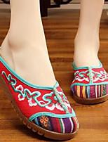 Damen Slippers & Flip-Flops Komfort Stoff Sommer Normal Beige Rot Flach