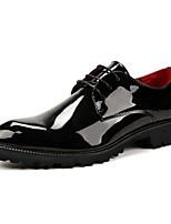 Для мужчин обувь Полиуретан Осень Зима Формальная обувь Свадебная обувь Назначение Повседневные Для вечеринки / ужина Черный Красный Синий