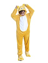 Kigurumi Pajamas Easy Bear Leotard/Onesie Festival/Holiday Animal Sleepwear Halloween Fashion Embroidered Flannel FabricCosplay Costumes With Shoes