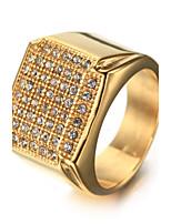 Men's Rhinestone Fashion Vintage Luxury Bling Bling Elegant Rhinestone Titanium Steel Jewelry Jewelry For Birthday Gift Daily Club Street