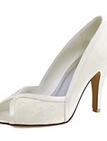 Da donna scarpe da sposa Decolleté Raso elasticizzato Primavera Estate Matrimonio Serata e festa Più materiali A stiletto Bianco Avorio