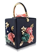 L.WEST Women's fashion handmade beaded flower set auger box package Bag