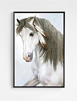 Animals Framed Oil Painting Wall Art,PS Material With Frame For Home Decoration Frame Art Living Room Dining Room 1 Piece