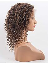 Парики из искусственных волос Лента спереди Kinky Curly Черный как смоль Черный Темно-коричневый Черный / Medium Auburn Средний