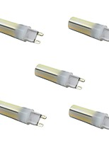 5.5W Luces LED de Doble Pin T 136 SMD 3014 450 lm Color de fuente de luz dual Regulable Decorativa AC 100-240 AC 110-130 V 5 piezas G9