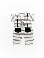 Baby Stripe One-Pieces,Cotton Summer