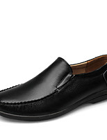 Men's Loafers & Slip-Ons Comfort Light Soles Formal Shoes Driving Shoes Fall Winter Real Leather Nappa Leather Cowhide Wedding Casual