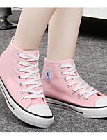 Women's Sneaker Comfort Spring Fall Canvas Casual Blushing Pink Black White Flat